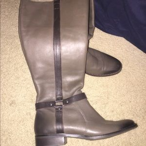 Matisse Gray Leather Riding Boots with cuffs